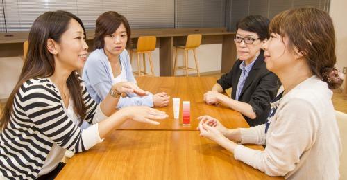 会話中の参加メンバーの写真