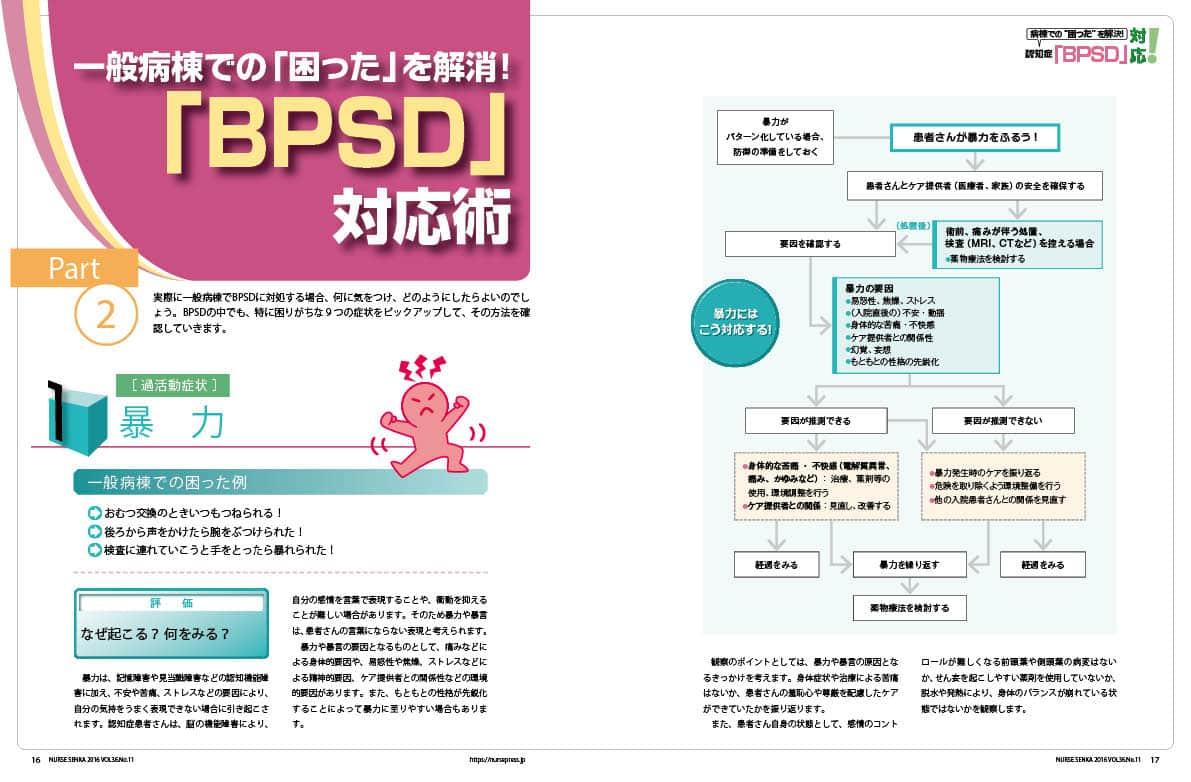 一般病棟での「困った」を解消!「BPSD」対応術の特集1ページ