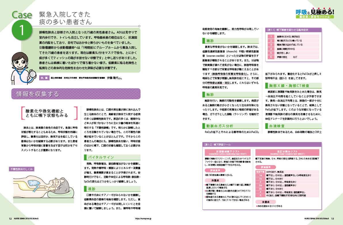 緊急入院してきた痰の多い患者さん特集1ページ