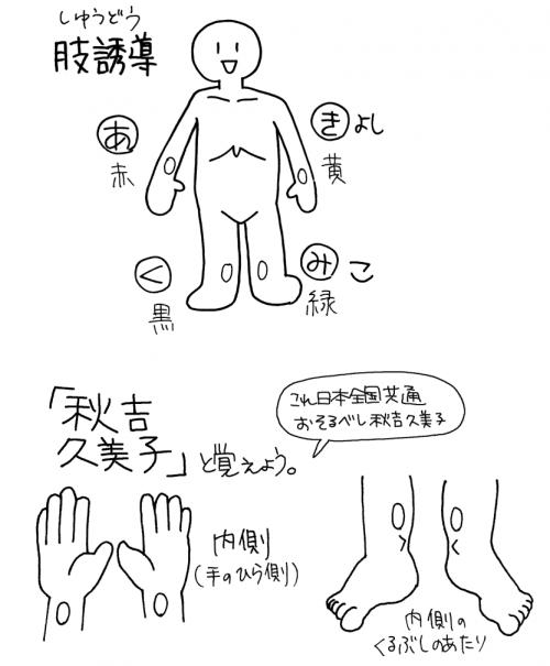 心電図計:肢誘導の付け方