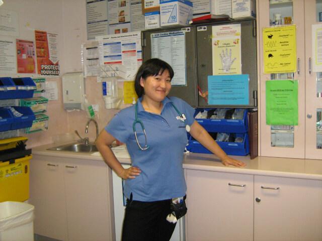 オーストラリアで正看護師として活躍するワールドアベニュー卒業生の写真