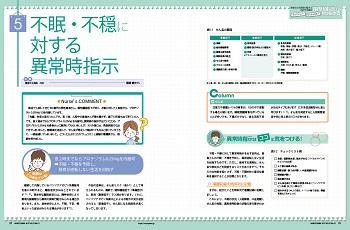 不眠、不穏に対する異常時指示の特集1ページ