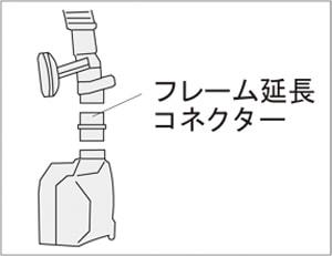 NPPVマスクフレーム延長コネクター