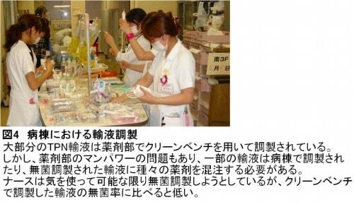 病棟での輸液調整の様子