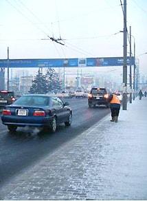 1月のチンギスハン空港の様子