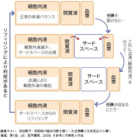 サードスペースとリフィリングについての説明図
