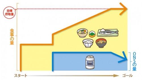 栄養の確保についての説明図