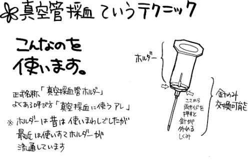真空管採血に使う真空採血管ホルダー