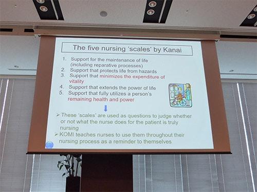 「看護の5つのものさし」説明風景