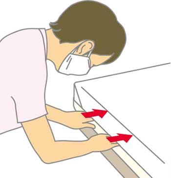 ベッドメイキング:三角シーツの作り方7