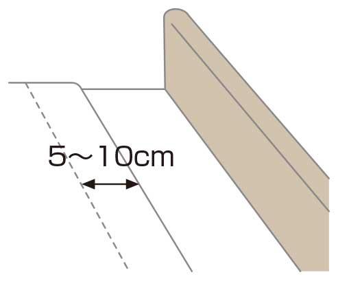 ベッドメイキング:タックの作り方2