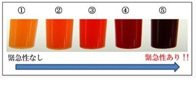 排液の色調スケール説明写真