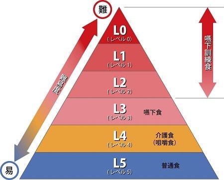 嚥下食ピラミッド説明図