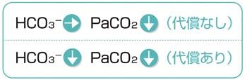 呼吸性アルカローシス説明図