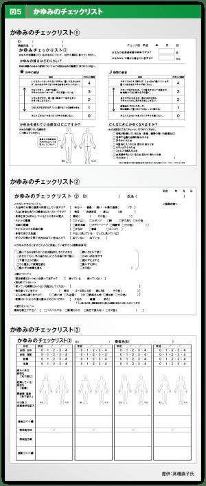 かゆみのチャックリストの図