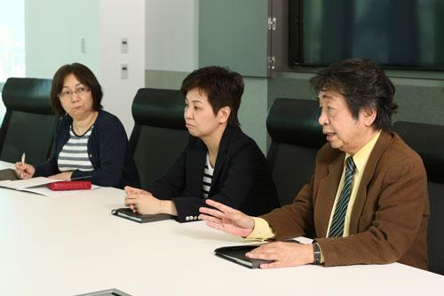 西田さん、下司さん、土谷さんの写真