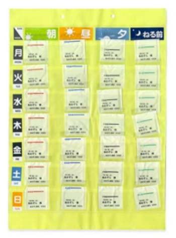 服薬カレンダーの写真