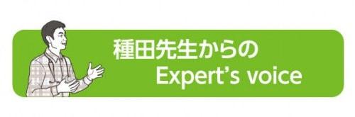 種田先生からのExpert's voice