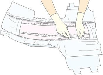 尿取りパッドの重ね方