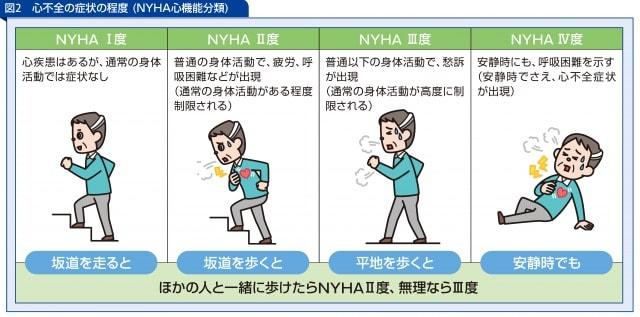 心不全の症状の程度 (NYHA心機能分類)