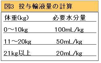 投与輸液量の計算