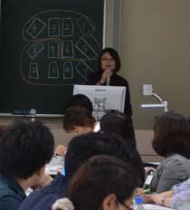 セミナー中の椎名さんの写真