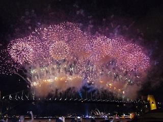 オーストラリアの新年の様子