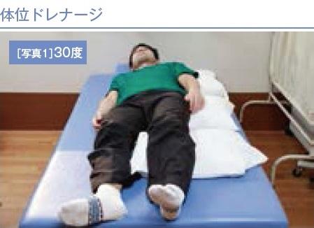 体位ドレナージ(30度)