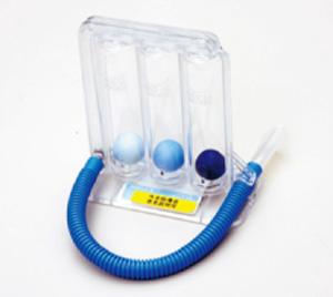 呼吸訓練器具実践写真②