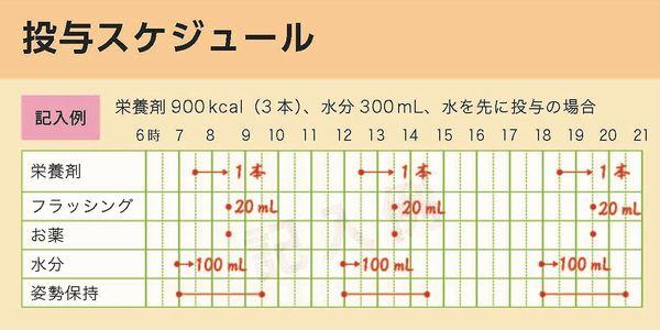 図6 スケジュール表の記入例