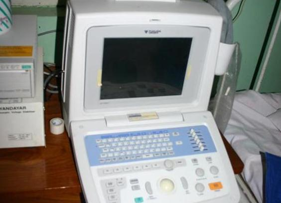 現地で使用されている超音波装置