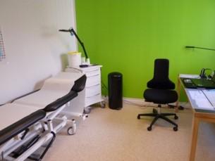 デンマークのGPクリニック ナースの診察室(マイナーイリネス、予防接種、健康診査、慢性疾患定期検査と療養指導を行う)