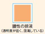 異常な排液の色見本