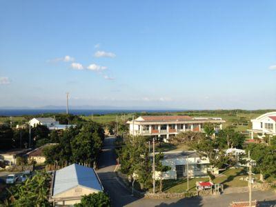島の中心部を撮影した写真