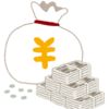 Resized money bag yen
