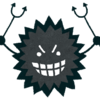 Resized virus character