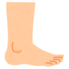 Resized body foot side