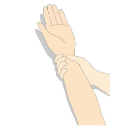 腋窩の間接圧迫止血3