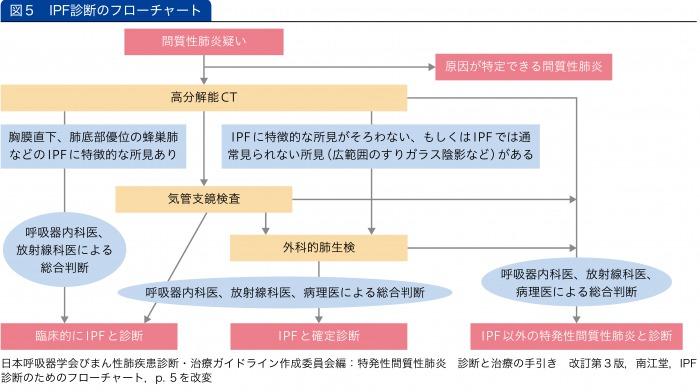 IPF診断のフローチャート