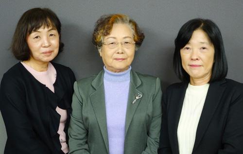 高砂裕子、上野桂子、清崎由美子